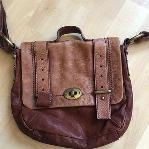 Leather vintage fossil bag